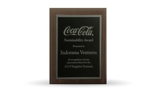 "Sustainability Award"" from Coca-Cola"